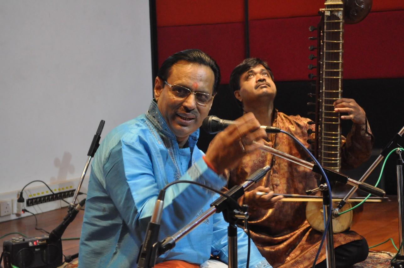 A Dhrupad singer and instrumentalist