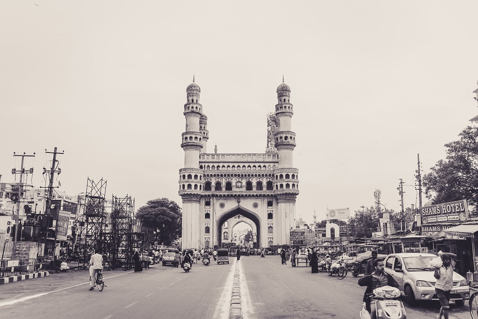 The beautiful Charminar Monument in Hyderabad, Andhra Pradesh