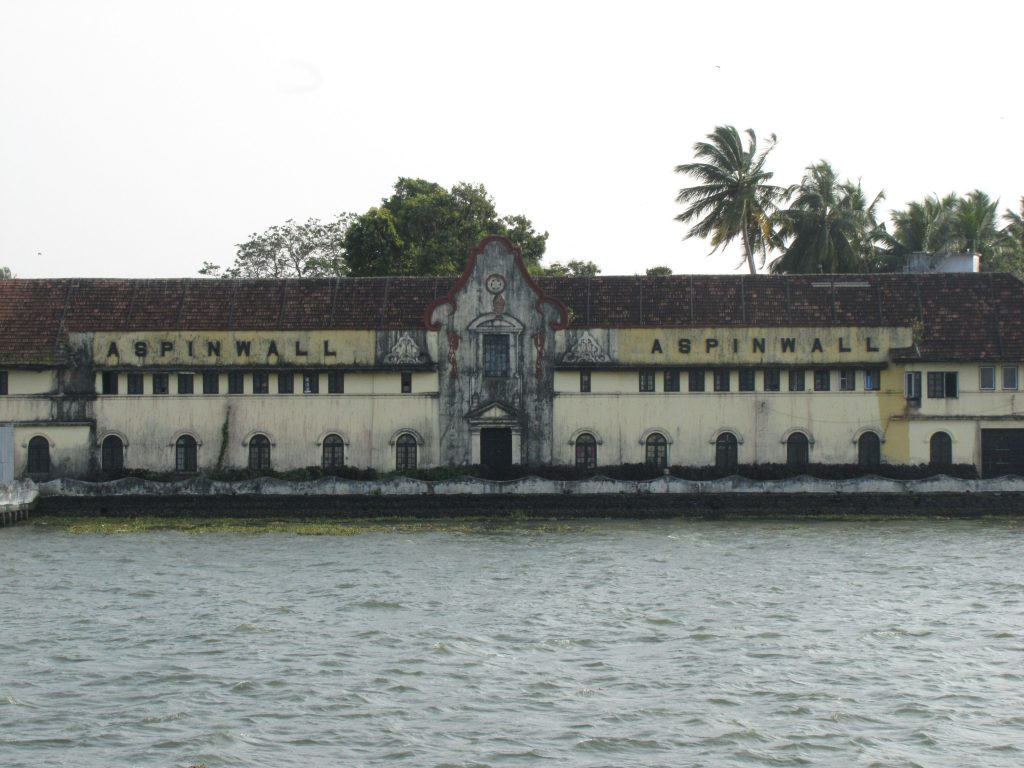 The exterior of Aspinwall facing the Kerala coastline