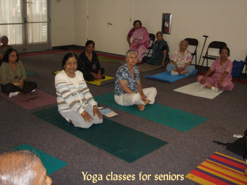 Yoga classes for seniors, to keep them engaged and provide them with more activities