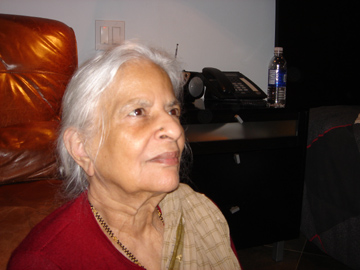 An elderly Indian grandmother, living in a retirement facility