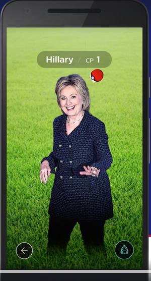 Hillary Clinton Uses 'Pokemon Go' to Get Voters