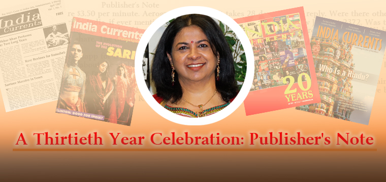 A Thirtieth Year Celebration: Publisher's Note