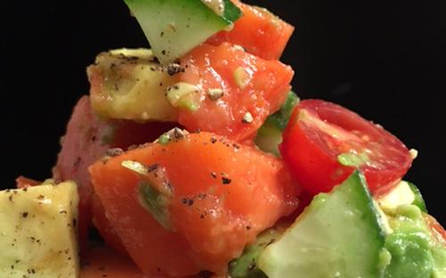 Papaya, Avocado, Cherry Tomato Salad