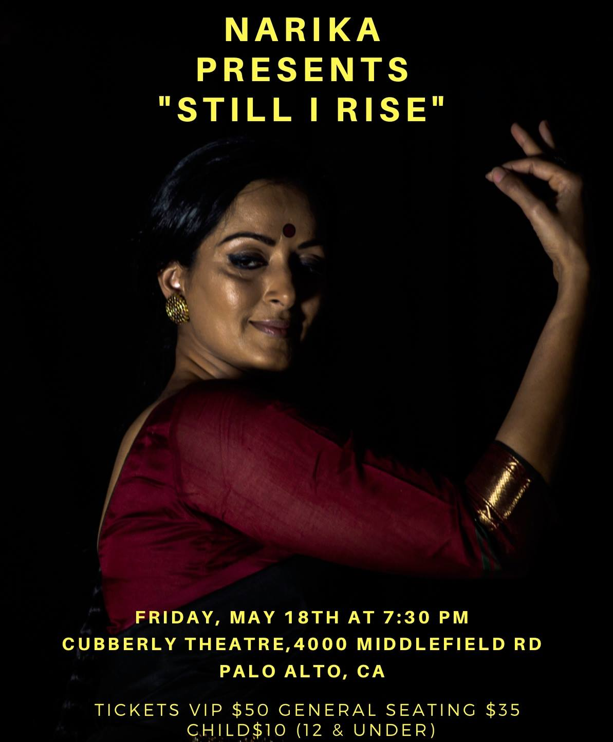 Vidhya Subramanian's Still I Rise,  a Premiere