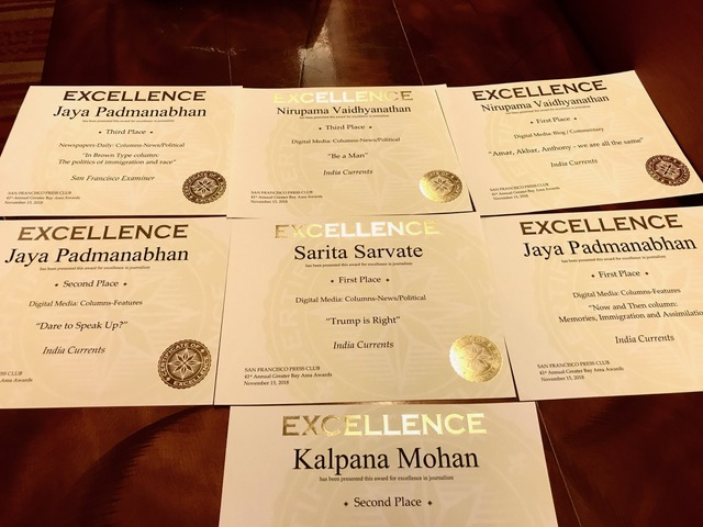 India Currents Wins 6 Awards