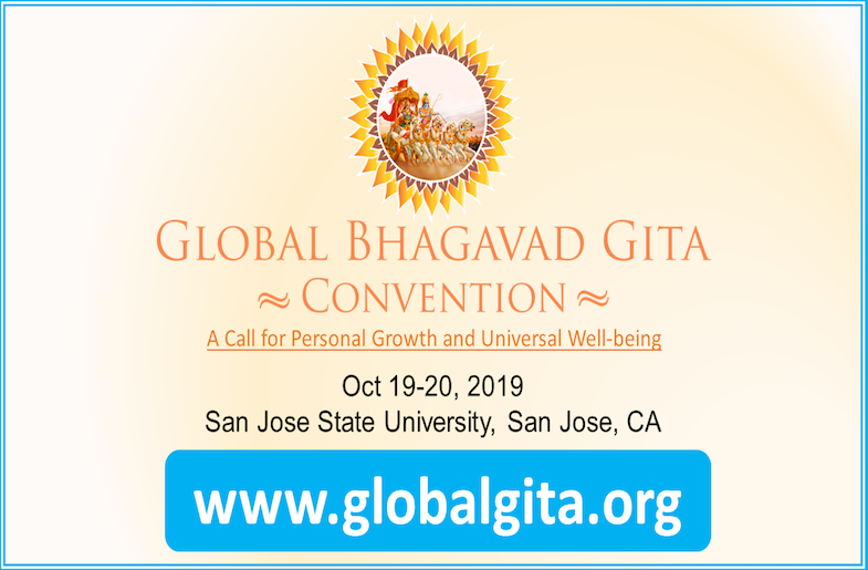 Silicon Valley to host the 2019 Global Bhagavad Gita Convention