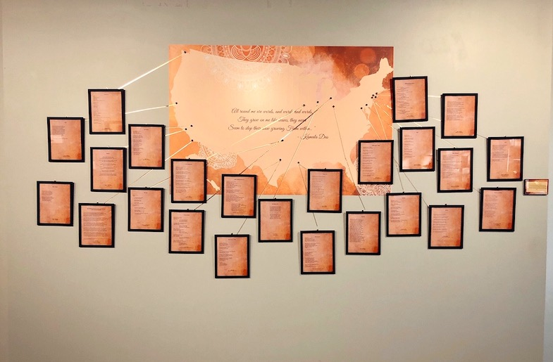 """""""All Around Me Are Words…"""" at the Matwaala Poetry Wall"""
