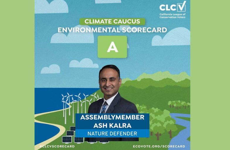 San Jose's Ash Kalra Gets An 'A' On Climate Change
