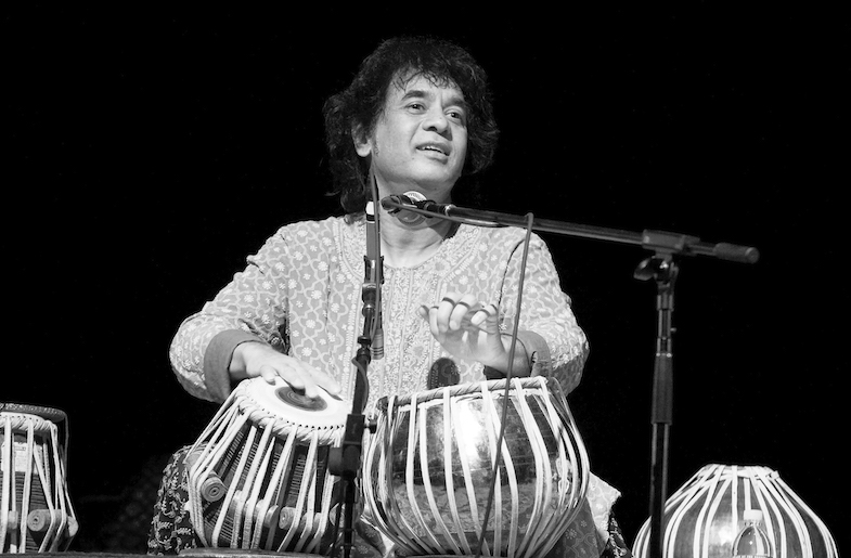 Zakir Hussain on Tabla (Image courtesy of IMG Artists)
