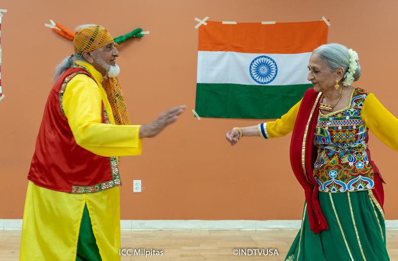 Kanti Patel and Jaya Mehta celebrating Independence Day at ICC (Image provided by ICC-Milpitas)