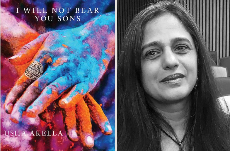 Left to Right: Book- 'I Will Not Bear You Sons' and Poet - Usha Akella