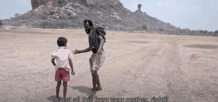 Film still from Koozhangal