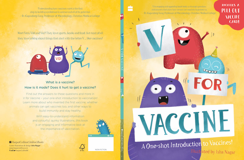"""Book cover of """"V For Vaccine'"""