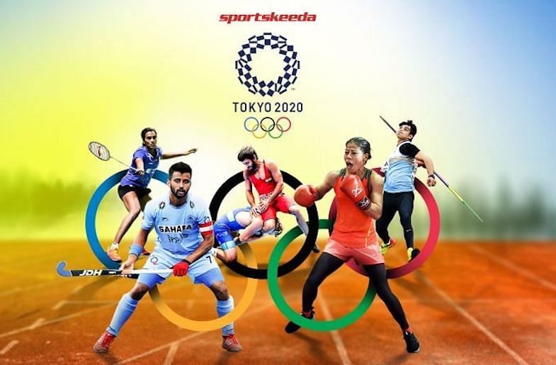 Indian athletes competing at the Tokyo Olympics (image from Sportskeeda.com)