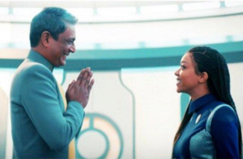 Adil Hussain's namaste in Star Trek