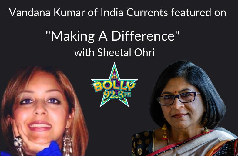 "Vandana Kumar Featured On ""Making A Difference"""